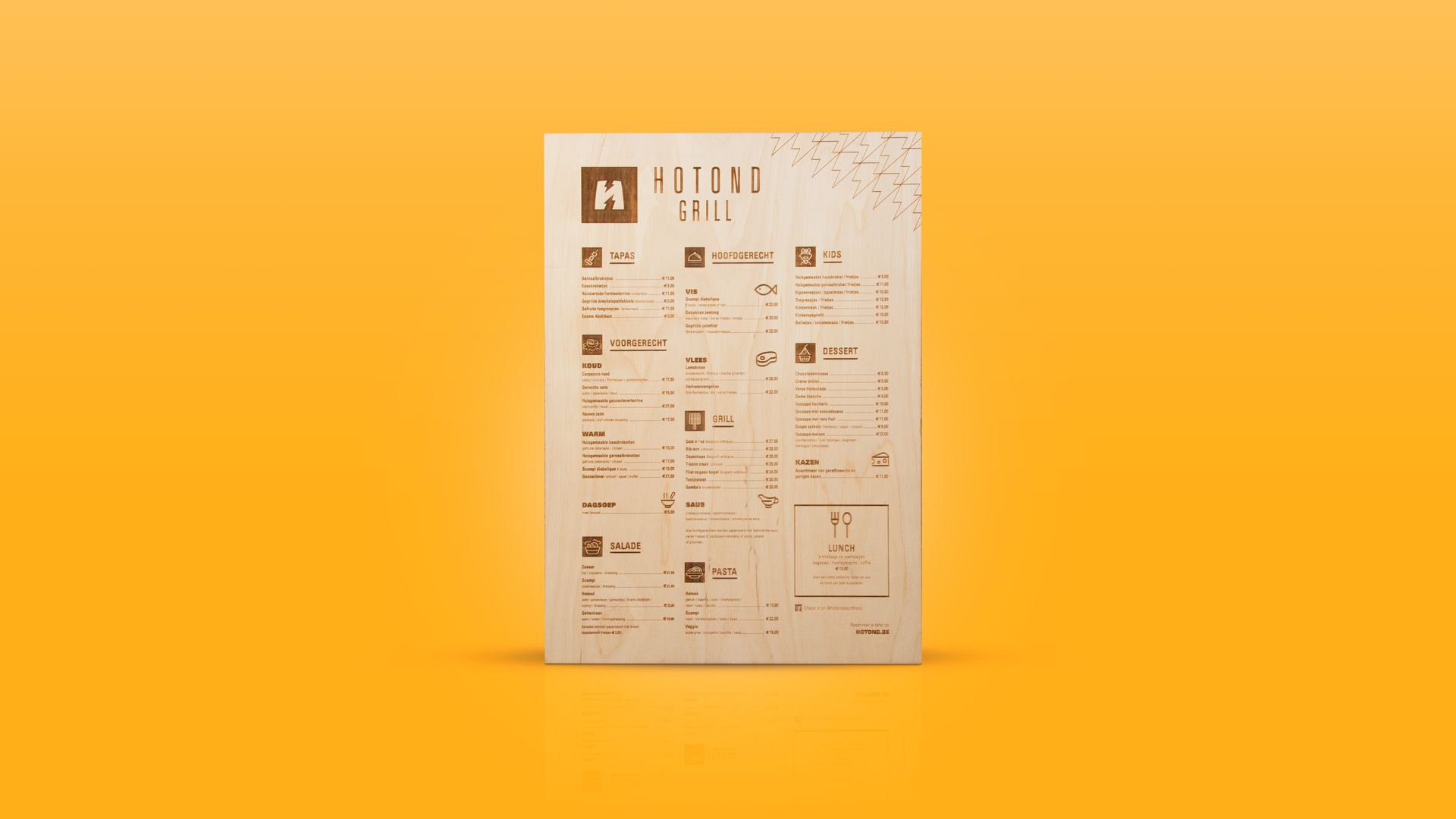 hotond-menukaart